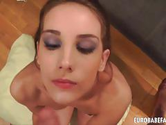 Tina blade sucks and gets a big facial cumshot