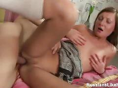 Russian ashley receives deep anal