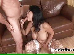 Busty gianna lynn gets hot and sweaty with her man