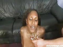 Ebony cashmere plays with lots of spunk