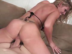 Busty blonde charisma riding a huge cock in pov
