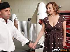Cougar rebecca bardoux fucked by a milf buster