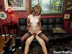 Naughty jonni hennessy gets her cunt pounded