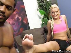 Nikki blake strokes black cock