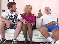 Wife gets nailed by a stranger and hubby likes it