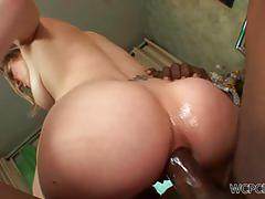 Kiera king gets her booty nailed by a black dong