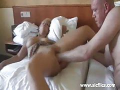 Greedy blonde amateur milf gets a hard fisting.