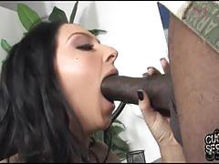 Stephanie fucks a black dude in front of her man