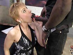 Massive black dong fills gemma's holes