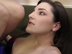 Tegan mohr does footjob on a big black cock
