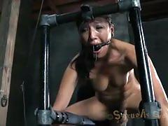 Skull fuck for hot and sexy blonde babe in bondage