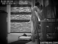 Hot teen fuck tape in black and white