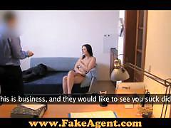 Valerie shows off her boobs to a fake agent