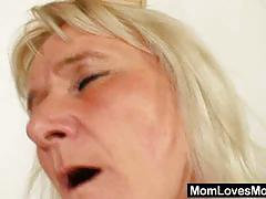 Horny blonde matures dildo their sweet pink cunts