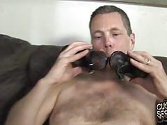 Ivy sucks black cock in cuckold session
