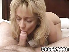 Pov blowjob from horny mom