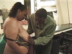 Horny black couple fucking hard in amateur fuck video