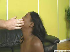 Jada fire chokes on a white dick