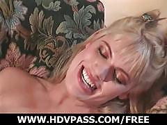 Gorgeous blonde with nice tits gets fucked hard
