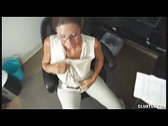 Perverted milf vanderberg jerking off her stepson