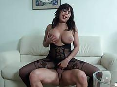 Hot brunette shanis gets pounded deep and hard