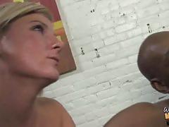 Alexandra silk & casey cumz share a black cock