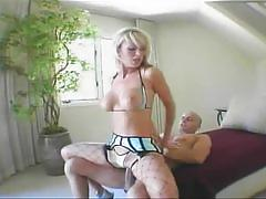 Big titted blonde loves having hard male meat deep