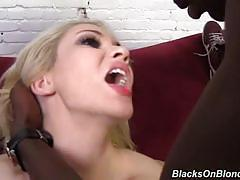 Sara monroe gets gangbanged by 3 black dudes