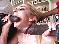 Kelly wells enjoys two big black cocks