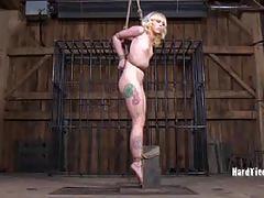 Sarah jane tries to escape bondage