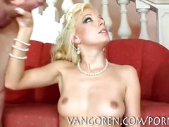 Hot blonde double penetration anal sex big cocks and cumshot