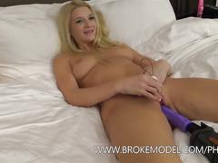 Hot blonde get's fucked hard by power tool's and more!