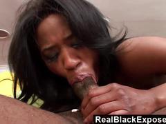 Realblackexposed pounding his ebony stepdaughter