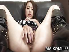 Hot japanese milf aya nakano moans in joy!