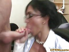 Two vicious milfs suck and ride a hard cock