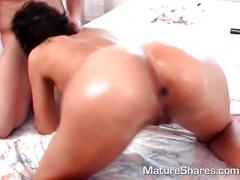 Mature redhead has her ass fisted
