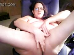 Hairy mature in a webcam