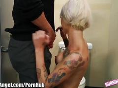 hardcore, burningangel.com, blonde, cock sucking, cumshot, doggystyle, fingering, titty fuck, hd, dick riding, reverse cowgirl, jizz in mouth