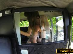 Frustrated cheating milf fucks taxi driver