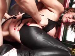 Redhead milf lizzy lovers cuffed & stuffed hard in the ass