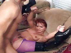 Saucy redhead katja kassin drenched with cum