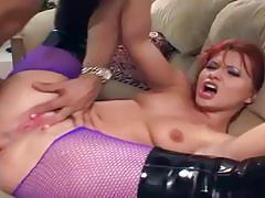 katja kassin, cumshot, suck, lingerie, anal, cum, nylon, boots, redhead, booty, gagging, gag, pantyhose, fishnets, sucking, cum shot, anal sex