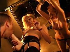Mila doms couple in dungeon setting