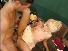 Hard group sex in office