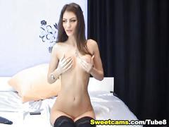 Nice ass babe fingering