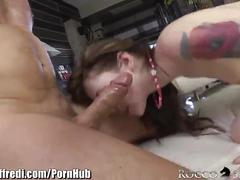 Roccosiffredi schoolgirl and milf hard anal 3some