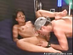 Hot asian honey cock sucks