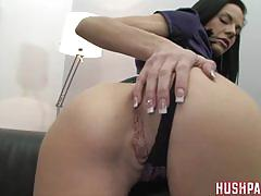 White girl sucking a huge cock