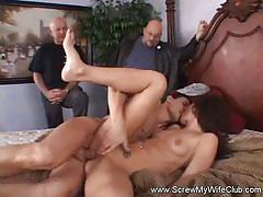 Husband shared his wife at screw my wife club