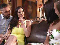 kendra lust, adriana chechik, brunette, riding, doggystyle, cumshot, reverse cowgirl, threesome, cowgirl, pussy licking